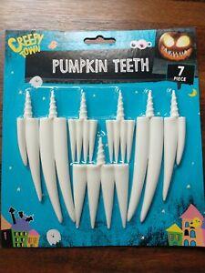 Pumpkin Teeth - Halloween Pumpkin TEETH SET NEW Pumpkin Decorations for Carving