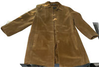 Bernardo Collection Nordstrom Womens Suede Coat Medium Brown Button Front