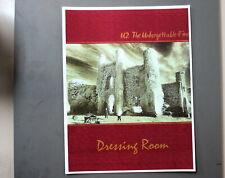 "U2 Backstage Door Sign Dressing Room The Unforgettable Fire 8.8"" X 11"" !"
