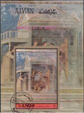 "Ajman 1972 ""Vita... di Maria"" Affresco dipinto da Giotto Quadro Sheet Imperf CTO"