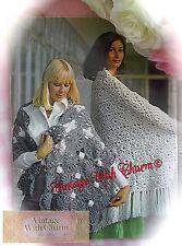 Vintage Crochet Pattern Lady's Stole, Fringed Shawl & Poncho £2.99 & Free P&P!