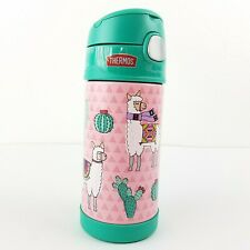 Thermos FUNtainer 12oz Llama Water Bottle, Green/Pink 12 hrs Stay Cold, New!
