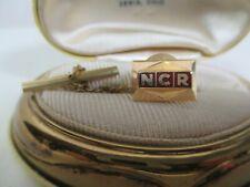 14K Yellow Gold & Red Enamel NCR Tie Tack National Cash Register