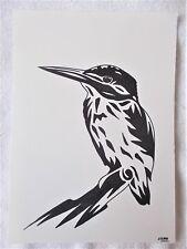 A4 Bolígrafo Marcador de arte dibujo pájaro Martín Pescador de animales B cartel Estilizado
