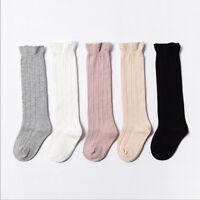 Bébé bambin filles coton genou haute chaussettes collants jambières bas pour0-3Y