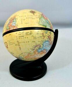 "2001 Small Replogle Globe on Stand Tan 13.75"" Diameter"