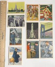 1950s SAS SCANDINAVIAN AIR SERVICE DANISH VINTAGE TRADING CARDS BULK LOT #6 EXC!