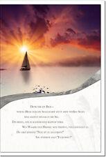 Trauerkarte WIEDERSEHEN | Segelboot | metALUm # 3300019