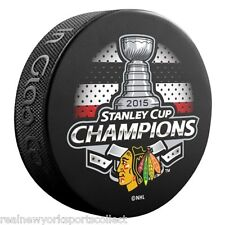 2015 CHICAGO BLACKHAWKS STANLEY CUP CHAMPIONS 6 PUCK SET IN STOCK FRE SHIPPING