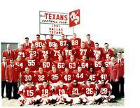 1961 DALLAS TEXANS 8X10 TEAM PHOTO  AFL TEXAS FOOTBALL