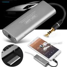 AUX Earphone 3.5mm Amp Stereo Headphone HIFI Audio Amplifier for Smartphone UK