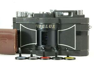 【N.MINT- w/ Filter】 Panon Widelux F7 35mm Panoramic Ultra Wide Film Camera JAPAN