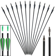 """12pc 31"""" Carbon Arrows SP500 Screw Tips for Recurve Compound Bow Archery Hunting"""