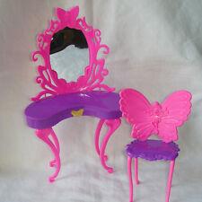 Barbie Dream House Dressing Table Vanity Pink Furniture Diorama Doll Mattel
