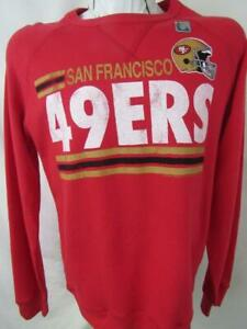 San Francisco 49ers Mens Size S L XL Screened Team Crew Sweatshirt ASNF 178