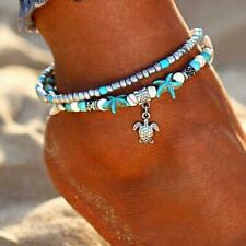 Multi Layer Anklet Vintage Shell Beads