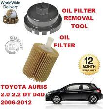 Para Toyota Auris 2.0 2.2 D4d 2006-2012 Nuevo Filtro De Aceite Y Filtro De Aceite de herramienta de eliminación