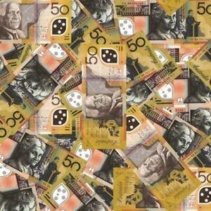 Australian  Fifty Dollars hydrographics Film design