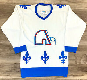Quebec Nordiques Vintage Retro Cooper NHL Hockey Jersey White 80s 70s Avalanche