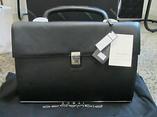 Piquadro Modus, Black, Office Briefcase 2 gusset, Reinforced bottom CA1038MO/N