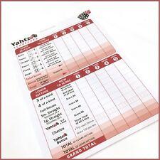 Yahtzee Score Pad - Score Cards - 125 games -  Refills Sheets Scorecards