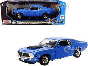 1970 MUSTANG BOSS 429 BLUE 1/18 DIECAST MODEL CAR BY MOTORMAX 73154