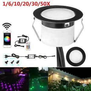 Black 45MM RGB+WW WIFI Bluetooth Terrace LED Step Stair Deck Soffit Lights Lamp