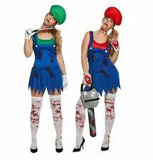 Women's Zombie Super Workwomen Halloween Costume one size UK 10-14