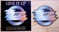 NEAR MINT ! ZZ TOP GIVE IT UP SHAPED VINYL PIC PICTURE DISC