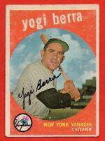 1959 Topps #180 Yogi Berra VG-VGEX+ New York Yankees HOF FREE SHIPPING
