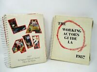 Vtg Hollywood L.A. Actor's Guide Book Los Angeles 411 Reference Book Film Tape