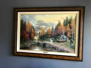Thomas Kinkade - The Valley of Peace - Beginning of a Perfect Day II LE, S/N frm