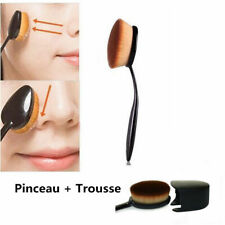 maquillage pinceau brosse ovale + caps de protection blister