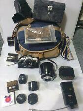 Olympus OM-1 MD 35mm camera + om - system zuiko 50mm & 28mm lens #715
