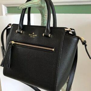Kate Spade New York Allyn Chester Street Black Pebbled Leather Handbag/crossbody