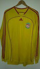 Liverpool FC Adidas Formotion XL 2006/07 Away Shirt Yellow Long Sleeve Player