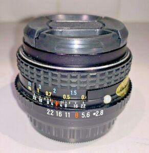 Pentax SMC-M 28mm F2.8 Wide Angle Lens, Pentax K Bayonet, Exc Condition