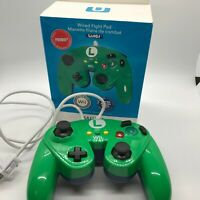 """Wired Game Controller """"Fight Pad"""" Luigi Green for Wii And Wii U"""