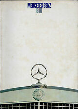 Mercedes-Benz 600 Limousine 1968-69 French Market Sales Brochure