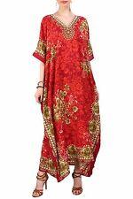 Miss Lavish Kaftan Tunic Kimono Maxi Dress Plus Size 10 12 14 16 18 22 24 26 28 Size 18-22 Red
