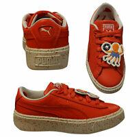 Puma X TC Tiny Cottons Platform Speckle Low Kids Lace Trainers 367473 03 B100C