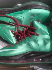 Lebron X(10) Cutting Jade green Christmas edition 2012 Men's Size 11US.PRE-OWNED