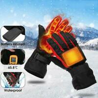 Motorrad elektrisch beheizte Handschuhe Winter warme thermische Skihandschu Q4V9