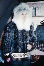 Kodak Slide 1950s Red Border Kodachrome Alaska Man in Fur Parka