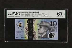2017 Australia Reserve Bank 10 Dollars Pick#63a PMG 67 EPQ Superb Gem UNC
