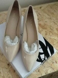 nine west nude court shoes size 6.5 - 7  new in box