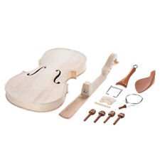 Full Size DIY Natural Solid Wood Violin Fiddle Kit Spruce Top Maple Neck Q9H9