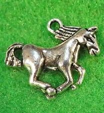 50Pcs. WHOLESALE Tibetan Silver HORSE Charms Pendants Earring Drops  Q0018