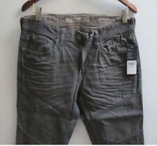 7392e537 Guess Men Jeans 33 W x 33 Slim Tapered Grey Gray Waxed Finish Brand New w