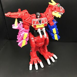 """Power Rangers Dino Charge Red T-Rex Megazord 10"""" Action Figure Bandai Incomplete"""